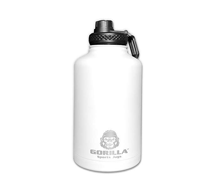 Gorilla Sports Jug 1 2 Gallon Insulated Water Bottle Review Water Bottle Water Bottle Reviews Gallon Water Bottle