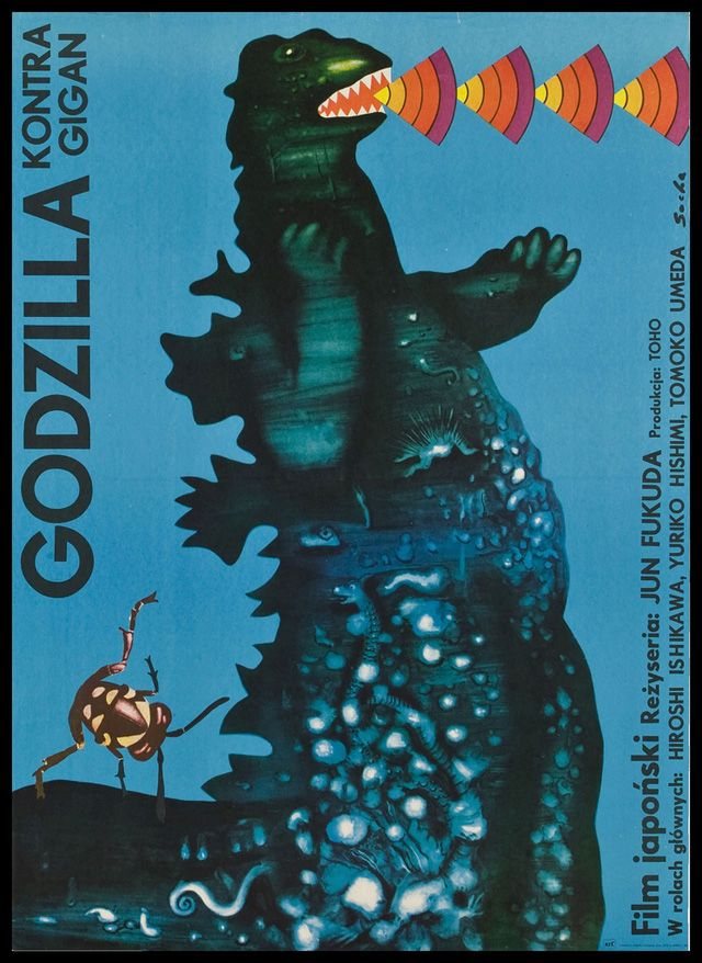 old movie posters: Vintage Posters, Old Movie Posters, Polish Posters, Picture-Black Posters, Godzilla Posters, Godzilla Kontra, Vintage Design, Film Posters, Vintage Movie