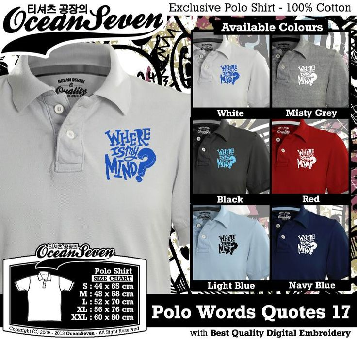 Kaos Polo Tulisan Unik   WORDS AND QUOTE SERIES 2
