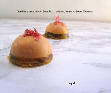 Ingredientes para 14-16 semiesferas: 80 gr de foie micuit (a temperatura ambiente) (Unos 5 gr de foie por semiesfera) 2 piezas de ...