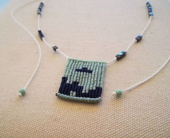 Hey, I found this really awesome Etsy listing at https://www.etsy.com/listing/472687611/makrame-tetris-necklace-green-and-blue