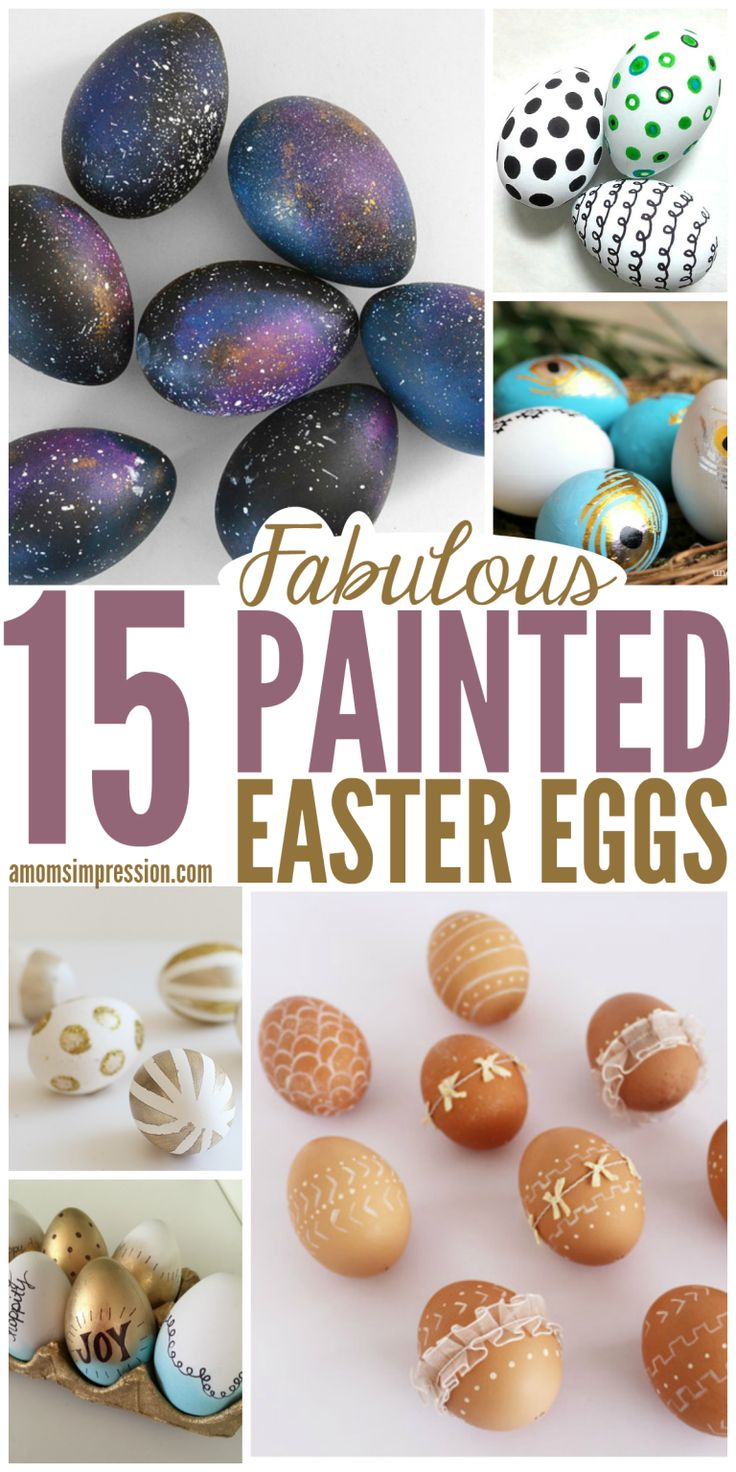 15 painted easter eggs