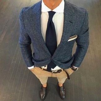 Dunkelblaues Sakko für Herren kombinieren: Modetrends und Outfits für Sommer 2017 | Herrenmode