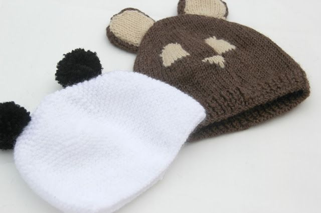 DIY Cómo hacer gorro de lana con orejas para bebe (panda)
