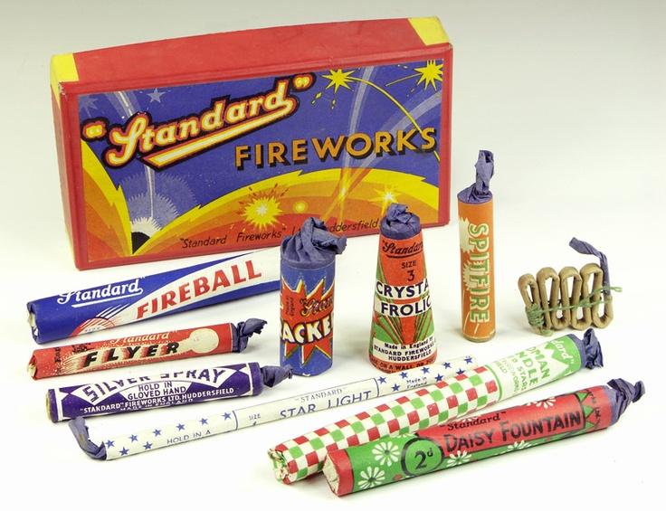old [unused British fireworks]