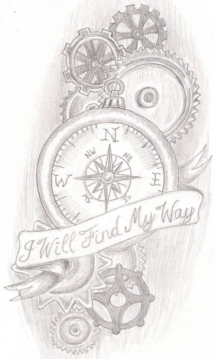 tattoo design for a friend, i know the gears are a little rough, but they were pretty hard to draw just by hand lol
