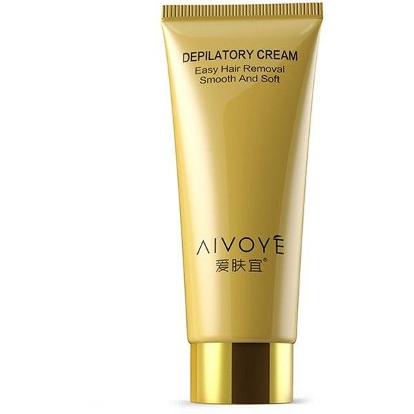 Golden Easy Permanent Hair Removal AIVOYE Depilatory Cream (8.10 CAD) ❤ liked on Polyvore featuring beauty products