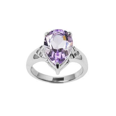 | Amethyst Royal ring - vintage inspired - in solid sterling silver | #amethystring #silveramethystring #vintagering #handmaderings #handcraftedrings www.pinchandfold.com