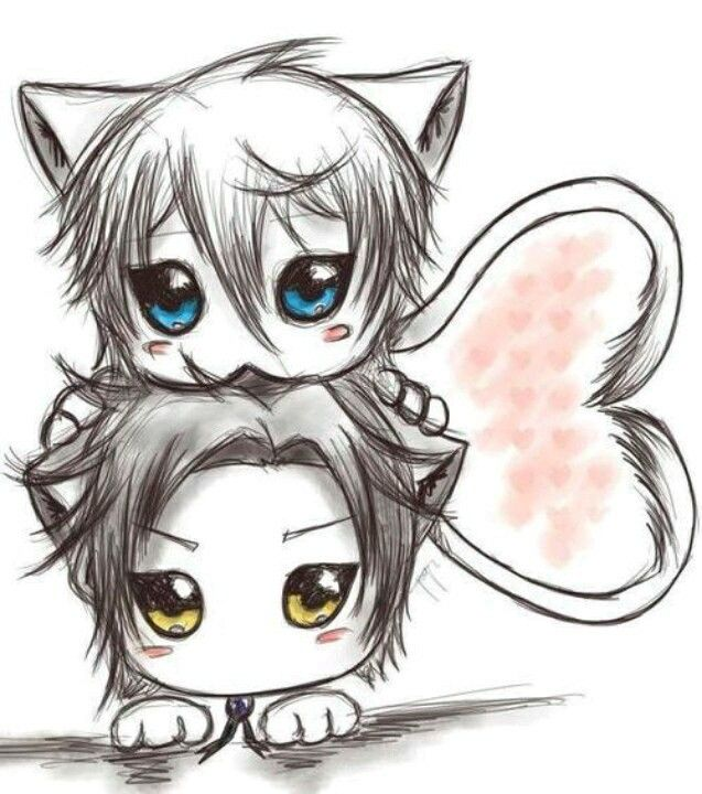 Chibi Anime Cat Drawing 32 best Chibi boy imag...