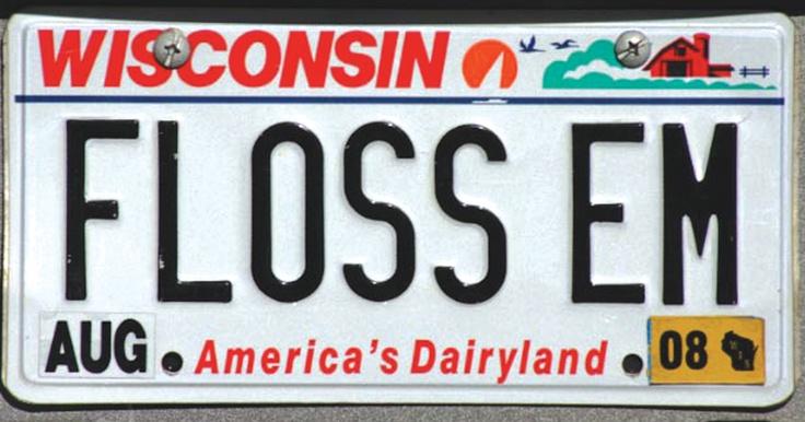 Wisconsin dental license plate in 2019 Car license