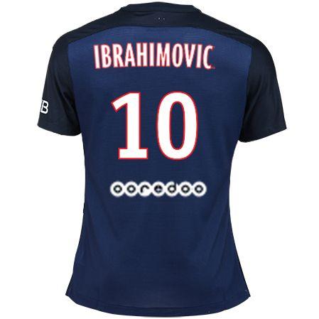 Maillot de foot PSG Domicile 2015/2016 (10 Ibrahimovic) Bleu