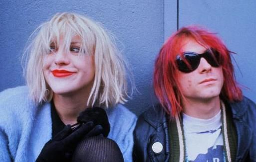 courtney love and kurt cobain with red hair. Grunge, 90s