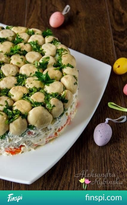 cake salad #cooking #holidays #salad #mushrooms