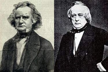 "James Mason (left) and John Slidell. In Dec. '1861, these diplomats were sent by the South to seek British and French aid aboard the English ship, the Trent. The ship was halted by the Union navy and the men siezed. The ""Trent Affair"" strained relations between the North and England and nearly led to war. Lincoln relented and released the men in Jan. 1862. He was quoted as saying, ""One war at a time."""