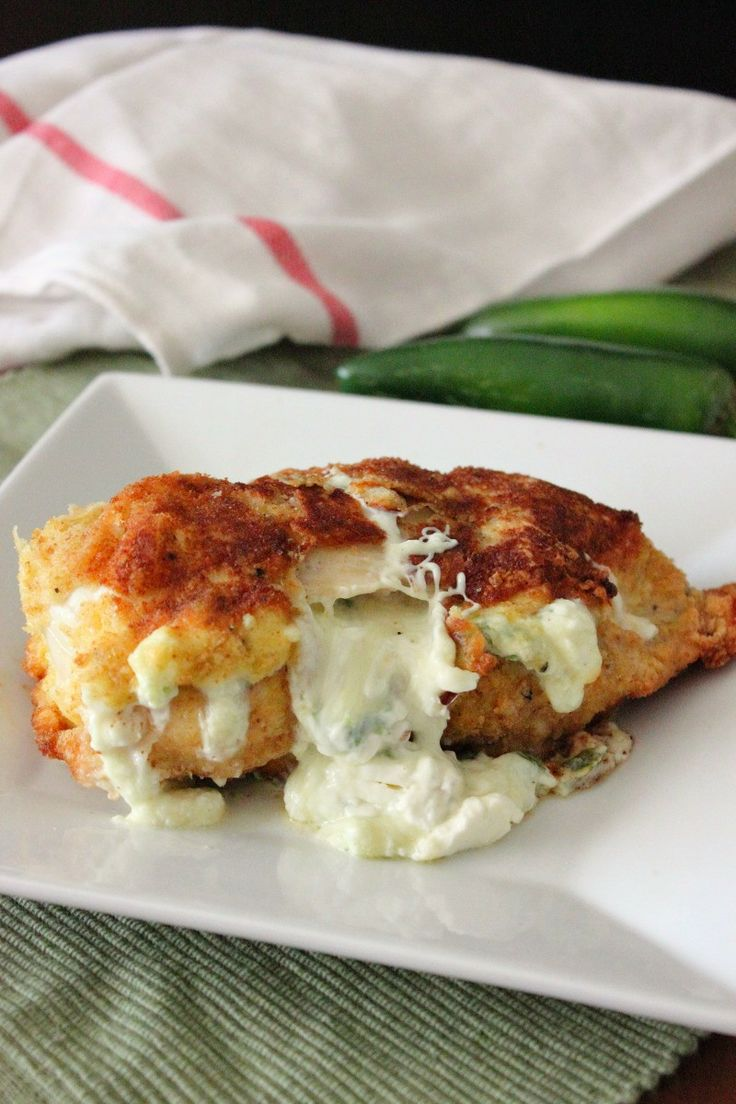 Jalapeno Popper Stuffed Chicken Breast.. It's so yummy! And not difficult either :)