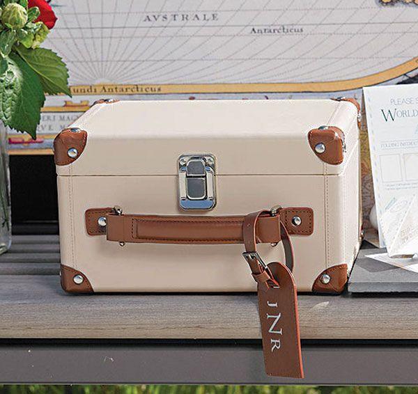 Vintage Suitcase Wedding Card Box | Suitcase Card Box
