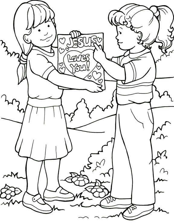 Friendship Coloring Pages Friends