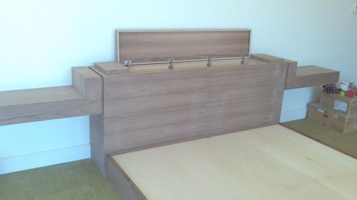 Black Walnut King Bed With Hidden Compartments And