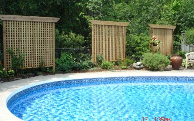 60 best pool privacy images on pinterest decks for Pool privacy screen