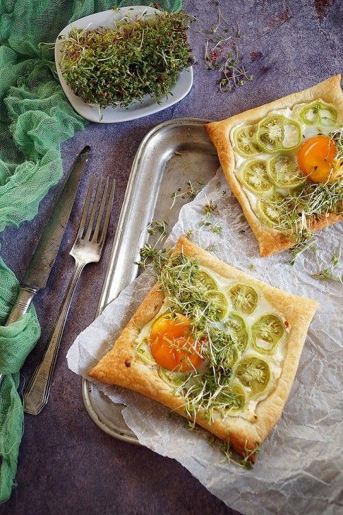 Zöld paradicsomos leveles tészta zsázsával recept