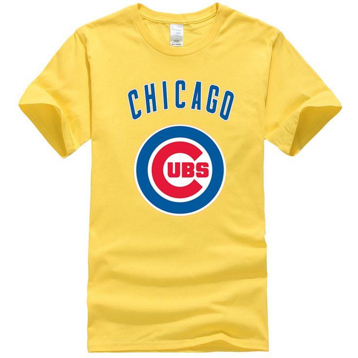 Hot Sale 100% Cotton T-shirts Chicago Cubs Mlb Baseball T shirts Man Cartoon Hip Hop Men's size Short Sleeve T Shirt #Affiliate