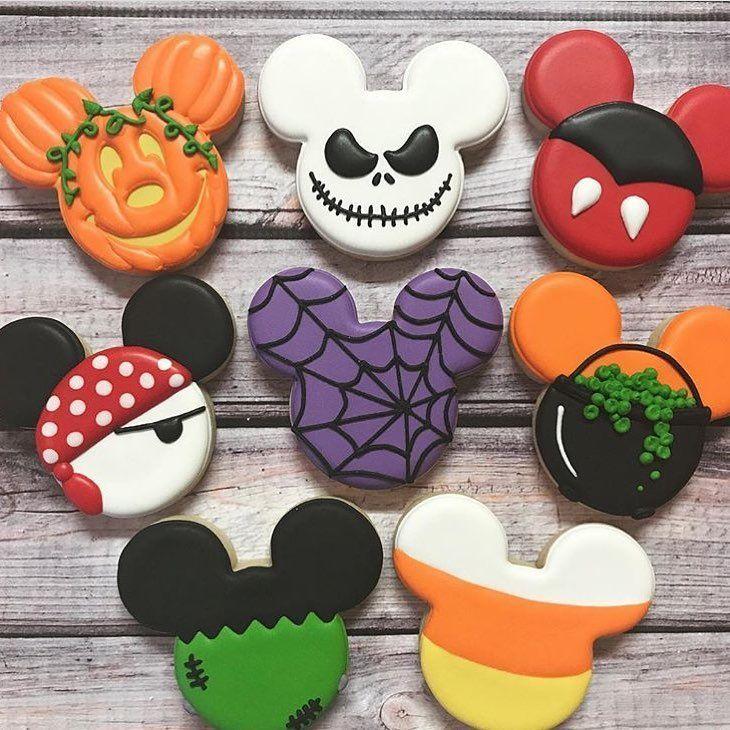 Disney Halloween Cookies Credi With Images Halloween