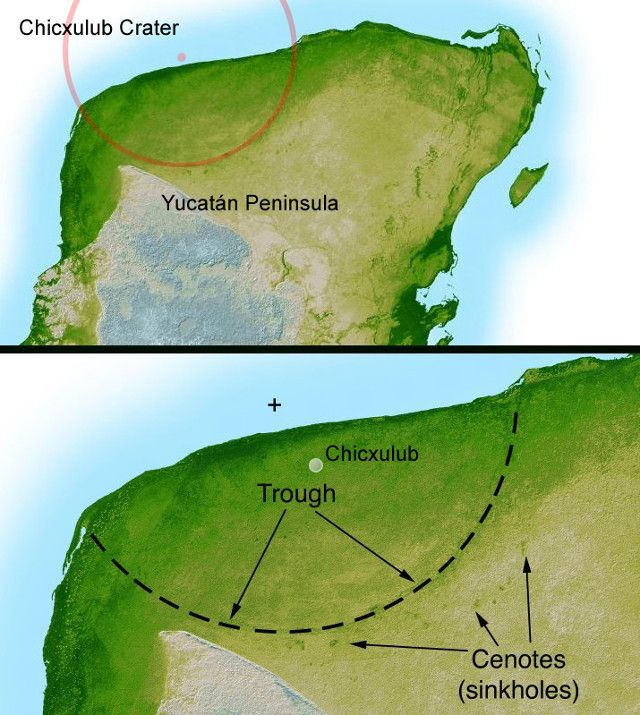 "An article published in the journal ""Science"" describes a study that found a possible connection between asteroid impacts and the production of habitats for new life forms. A team of researchers carried out a series of drills in the underground circular structure of Chicxulub, the large crater beneath the Yucatan peninsula generated by an impact. That event, which started the extinction of dinosaurs and many other life forms about 66 million years ago. Read the details in the article!"