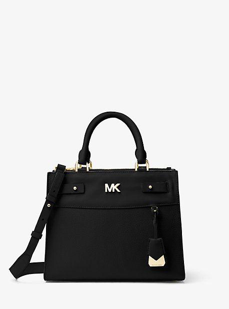 909e8fecf9c3 MICHAEL MICHAEL KORS REAGAN MEDIUM LEATHER SATCHEL. #michaelmichaelkors  #bags #shoulder bags #hand bags #leather #satchel #