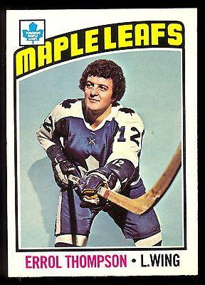 1976 77 OPC O PEE CHEE #259 ERROL THOMPSON NM TORONTO MAPLE LEAFS HOCKEY CARD