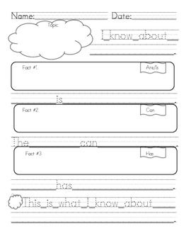 graphic organizer for research paper first grade