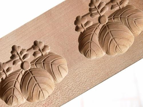 Japanese Antique Kashigata Kamon Family Crest w Cover Carved Wooden Cake Mold | eBay