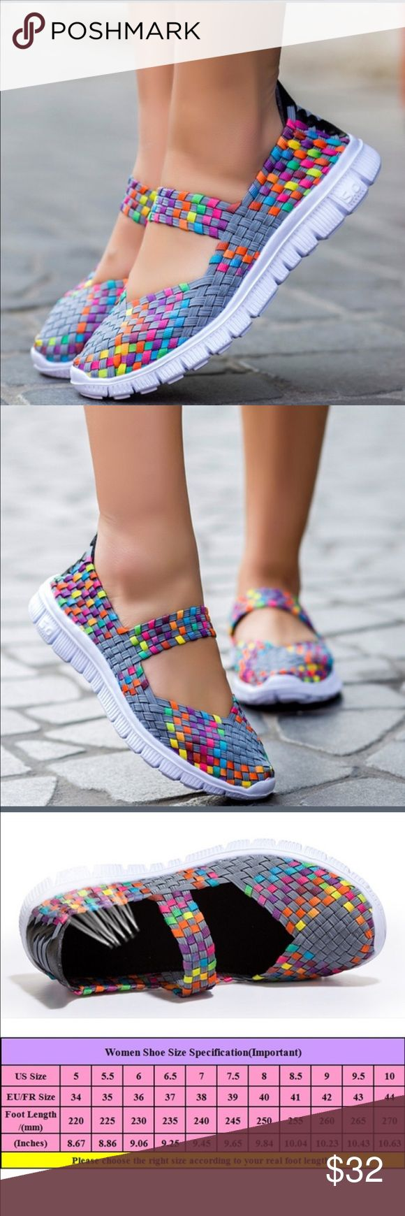 BREATHABLE SNEAKER Just an all around comfortable shoe! Cute and colorful!!! Mesh!!!! Great for everyday... Feels like your wearing next to nothing!!! Very Light...Brand New Shoes Athletic Shoes