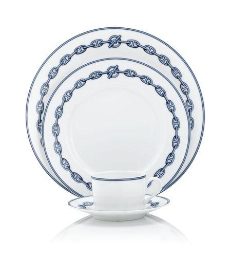 Chaine D39 Ancre Blue Hermes Art De La Table