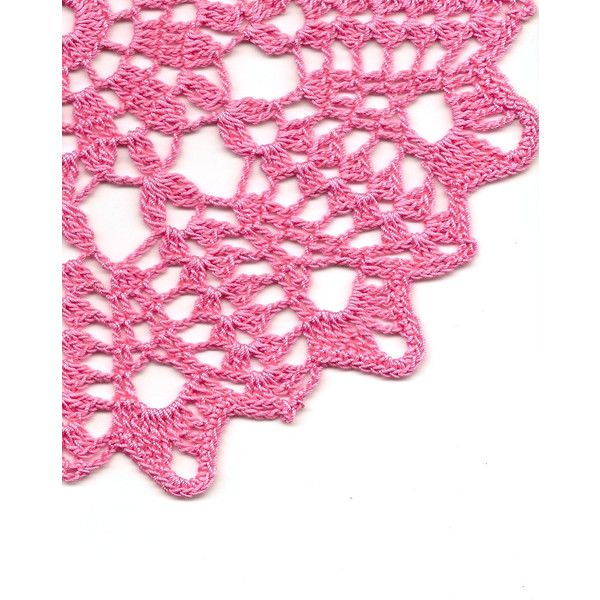 Vintage Handmade Crochet Doily Lace Lacy Doilies Wedding Decoration... ❤ liked on Polyvore featuring home, home decor, crochet home decor, crochet bowl, pink bowl, crochet pineapple doily and pineapple centerpieces