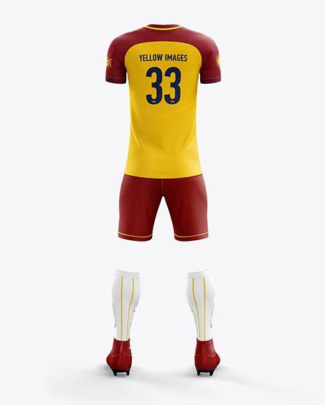 Men's Full Soccer Team Kit mockup (Back View)