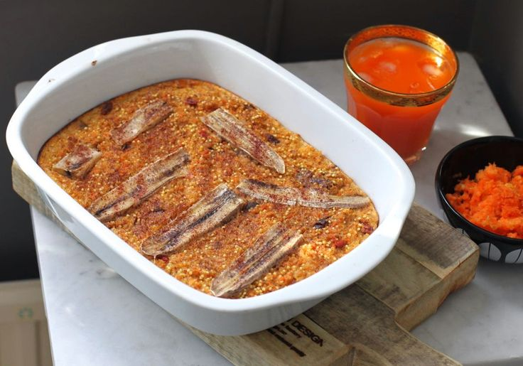 Bakt hirse- og dinkelgrøt med gulrot og banan | The Kitchn Queen