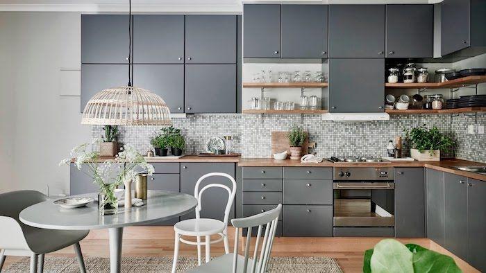 1001 Idees Deco Pour La Meilleure Association De Couleur Avec Le Gris Salle A Manger Grise Cuisines Design Decoration Cuisine