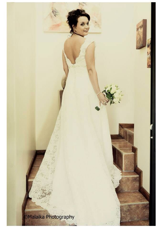 My beautiful gown by Blushing Brides and bridesmaid dresses by Hoiden