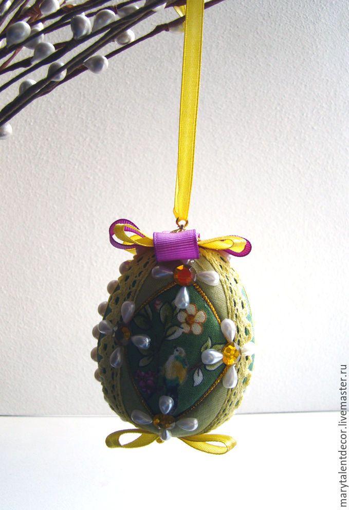 """Пасхальное яйцо """"Птицы в саду"""" - желтый, яйцо, яйцо пасхальное, яйцо ручной работы"""