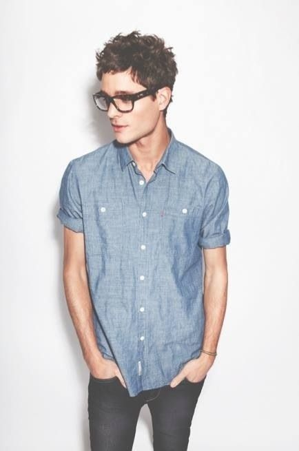 chambray and glasses