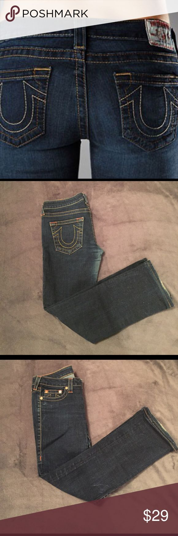 True Religion Jeans True Religion Jeans. Some wear in between the thighs but still have a lot of life left! Low waist flair style.  29 inch inseam True Religion Pants