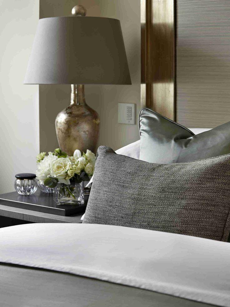 glamorous bedding…