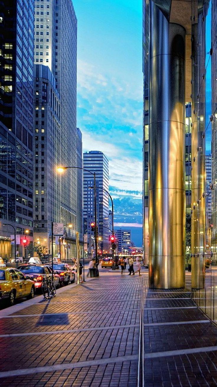 Chicago Streets iPhone 6 Wallpaper / iPod Wallpaper HD