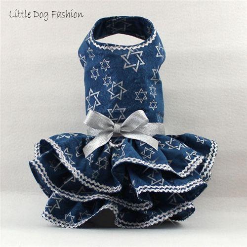 Star of David Hanukkah Dresses for Small Dogs