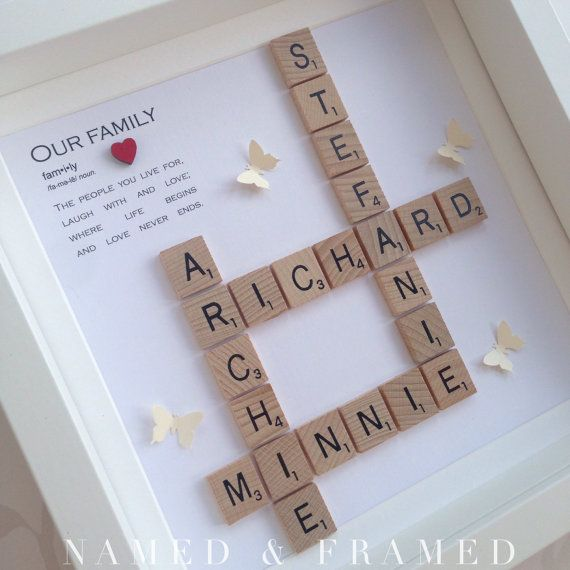 Marco marco familiar de scrabble scrabble arte de por NamedFramed