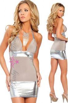 rochie alba - argintie