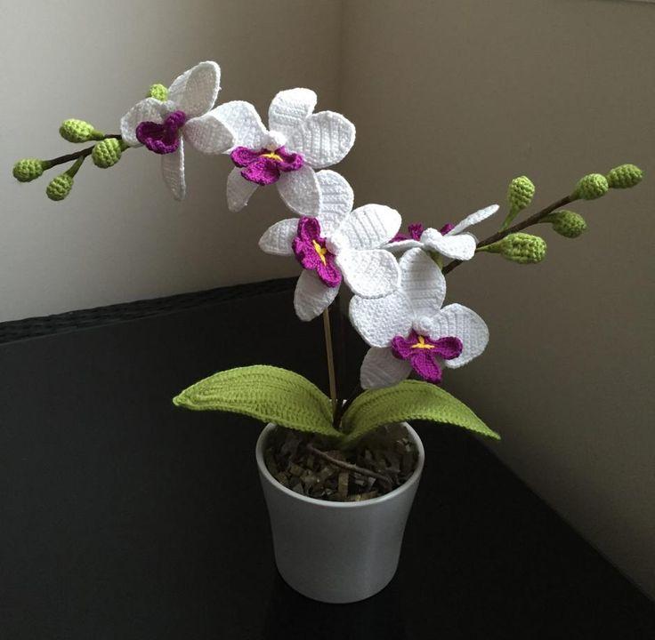 Crochet Orchid Flower Free Pattern