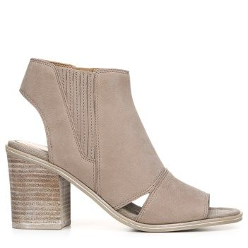 Franco Sarto Women's Galaxy Peep Toe Bootie Hi Tech Grey Leather