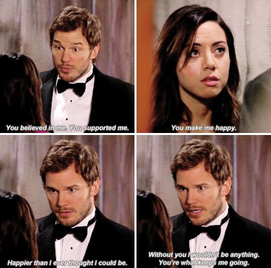 Then when Andy told April that she was the best thing to ever happen to him, even after all his success.