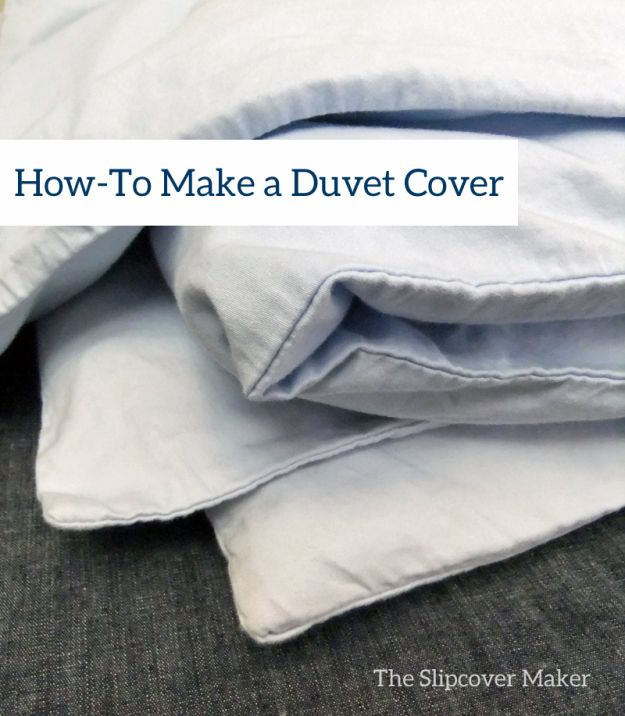 Duvet Cover Tutorial by The Slipcover Maker